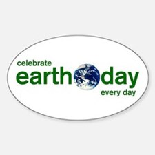 Earth Day Oval Decal