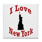 I Love New York Tile Coaster