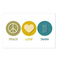 Peace Love Taxes Postcards (Package of 8)