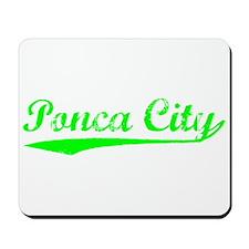 Vintage Ponca City (Green) Mousepad