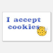 I Accept Cookies Rectangle Decal