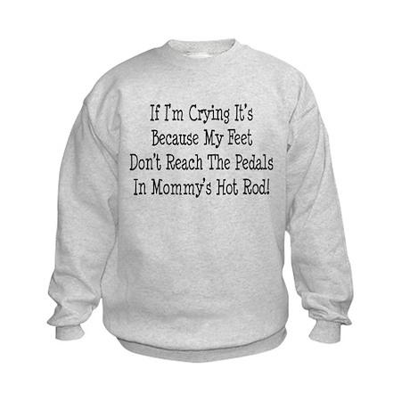 My Mommys Hot Rod Kids Sweatshirt
