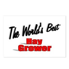"""""""The World's Best Hay Grower"""" Postcards (Package o"""
