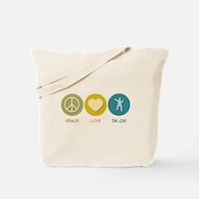 Peace Love Tai Chi Tote Bag