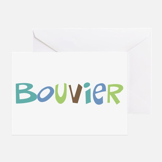 Bouvier Text Greeting Card