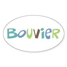 Bouvier Text Oval Decal