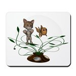 Cat Fish Bowl Mousepad