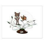 Cat Fish Bowl Small Poster