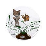 """Cat Fish Bowl 3.5"""" Button (100 pack)"""