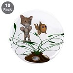 """Cat Fish Bowl 3.5"""" Button (10 pack)"""