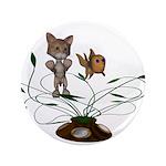 "Cat Fish Bowl 3.5"" Button"