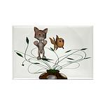 Cat Fish Bowl Rectangle Magnet (10 pack)