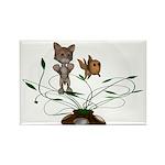 Cat Fish Bowl Rectangle Magnet (100 pack)