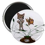 """Cat Fish Bowl 2.25"""" Magnet (10 pack)"""
