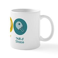 Peace Love Table Tennis Mug