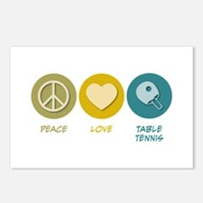 Peace Love Table Tennis Postcards (Package of 8)