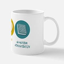 Peace Love System Administration Mug