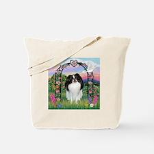Rose Arbor & Japanese Chin Tote Bag