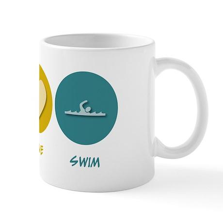 Peace Love Swim Mug