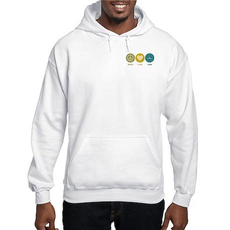 Peace Love Swim Hooded Sweatshirt