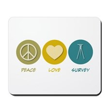 Peace Love Survey Mousepad
