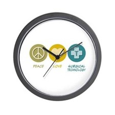 Peace Love Surgical Technology Wall Clock