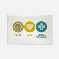 Peace Love Surgical Technology Rectangle Magnet