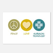 Peace Love Surgical Technology Postcards (Package