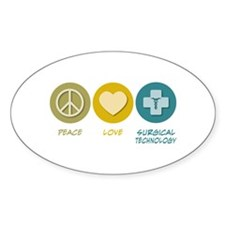 Peace Love Surgical Technology Decal