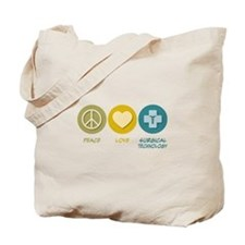 Peace Love Surgical Technology Tote Bag