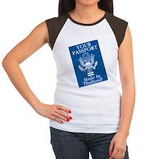 Outsourced Passport Women's Cap Sleeve T-Shirt