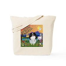 Fantasyland & Japanese Chin Tote Bag