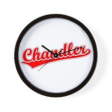 Retro Chandler (Red) Wall Clock