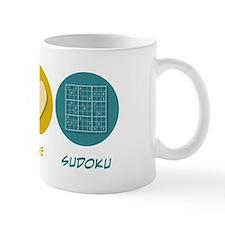 Peace Love Sudoku Mug