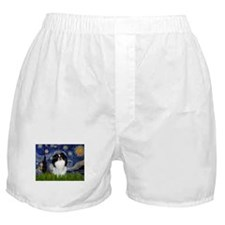 Starry Night & Japanese Chin Boxer Shorts