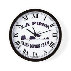 La Push Cliff Diving Team TM Wall Clock