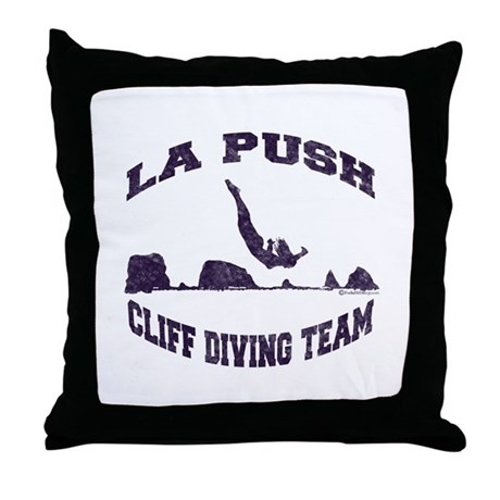 La Push Cliff Diving Team TM Throw Pillow
