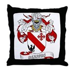 Berrios Family Crest Throw Pillow