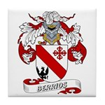 Berrios Family Crest Tile Coaster