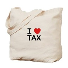 """I Love Tax"" Tote Bag"