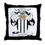 Besora Family Crest Throw Pillow