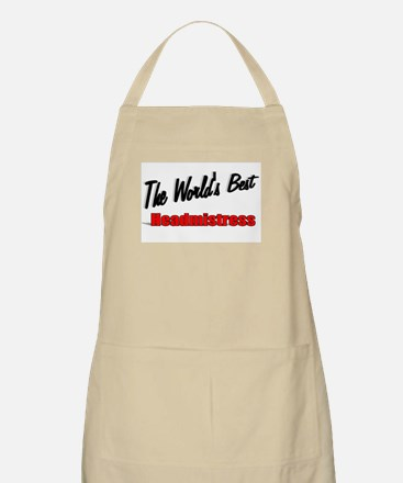 """The World's Best Headmistress"" BBQ Apron"