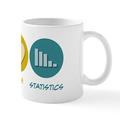 Peace Love Statistics Mug