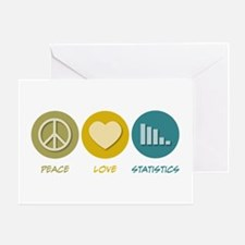 Peace Love Statistics Greeting Card