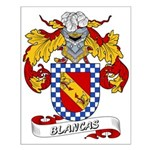 Blancas Family Crest Small Poster