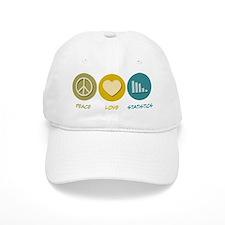 Peace Love Statistics Baseball Cap