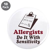 """Allergist Immunologist 3.5"""" Button (10 pack)"""