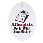 Allergist Immunologist Oval Ornament