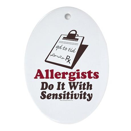 Allergist Immunologist Oval Ornament