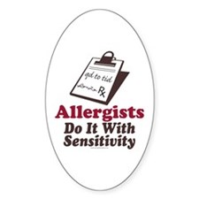 Allergist Immunologist Oval Decal